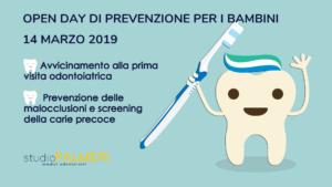 Open day di prevenzione odontoiatrica per i bambini allo Studio dentistico a Catania: Palmeri